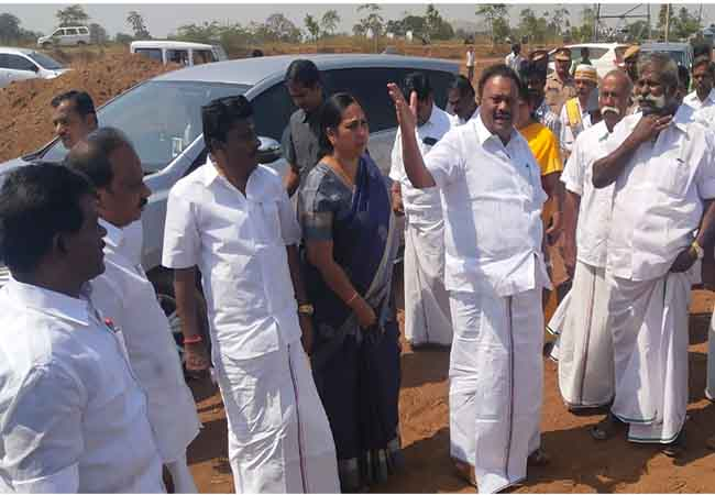 NEW MEDICAL COLLEGE FUNCTION CM PALANISAMY MINISTER AND OFFICERS INSPECTION
