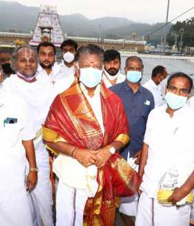 OPS and Ministers On Tirupathi