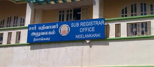 sub registrar office neelankarai