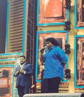 darbar film audio launch actor yogi babu interest speech