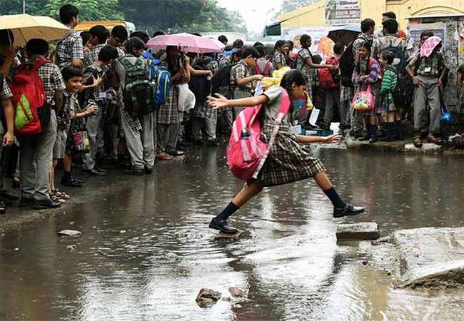 heavy rain most of districts schools holiday announced