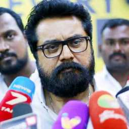"""If  i talks about he, that's the headline."" Sarathkumar in the case of Seeman!"