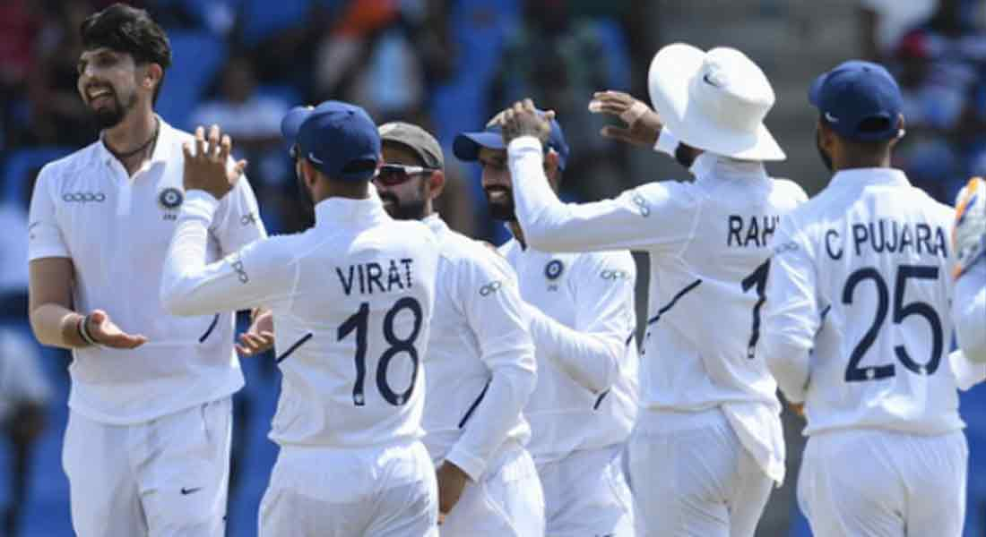 Windies collapses at Indian pace Bumrah made 5 wickets !!