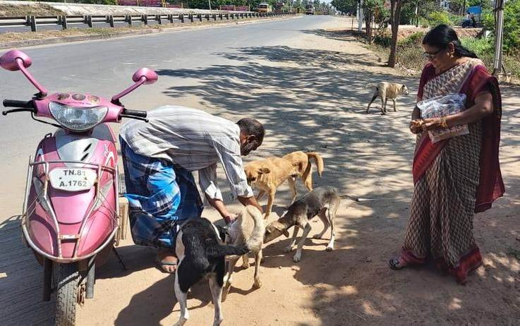 Corona virus Impact - street dog Hungry issue - person went up to former minister