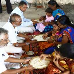 Vidyarambam show for children with Vijayadasamy