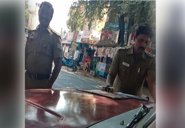 salem district auto driver police take money police SI suspended