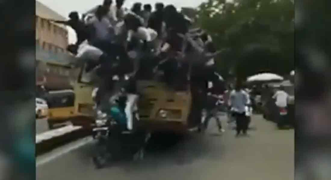 Bus Day' celebration ...9 students sued by police