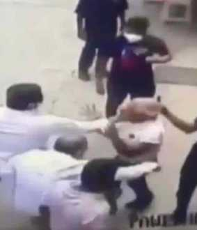 shivsena workers hit former navy officer