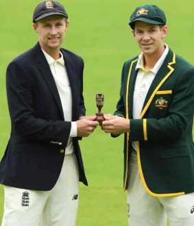ashes test series started in england