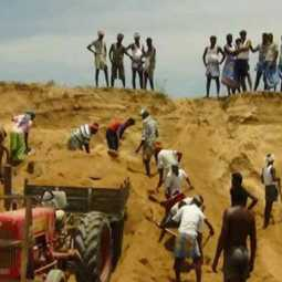 The people who prevented sand theft: government officials who ordered sand mining!