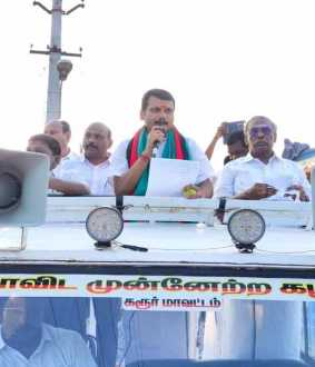 DMK PARTY LEADER AND MLA STARTED THE ELECTION CAMPAIGN