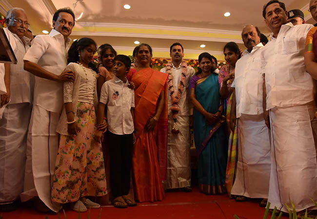 madurai dmk district secretary ko thalapathi family marriage function mk stalin