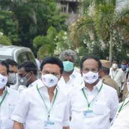 DMK MLA's wore ban neet mask  while entering assembly