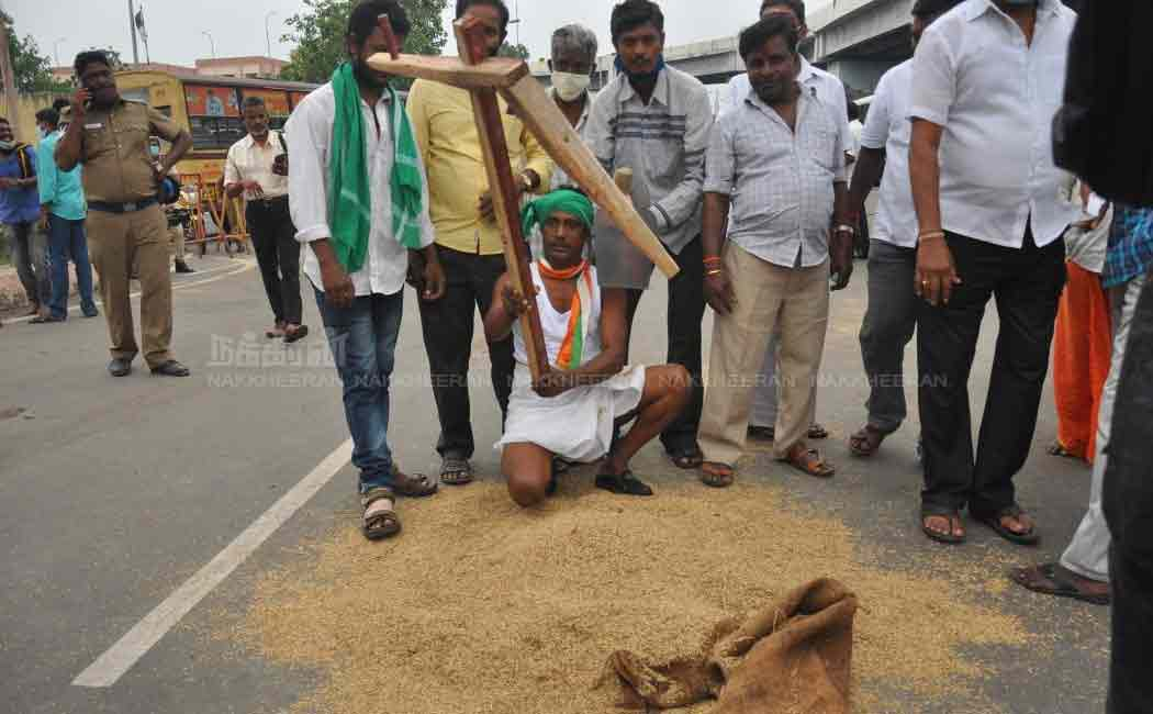 congress people arumbakkam support farmers