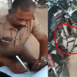 Fine for engine-free bikes ... Assistant Inspector of Police transferred to Armed Forces!