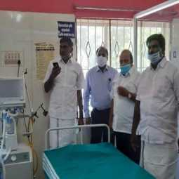corona virus Impact - AIADMK minister inspects government hospitals
