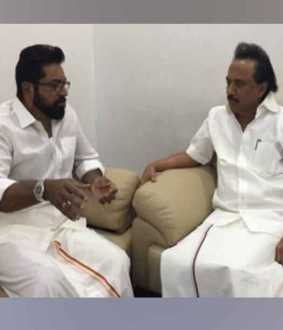 actor sarathkumar - mkstalin