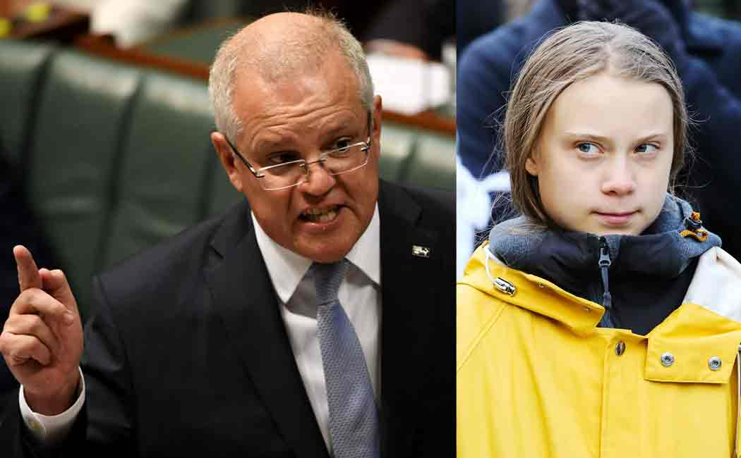scott morrison reply to greta thunbergs comment on australian wildfire