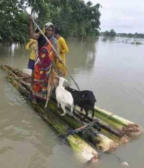 assam flood affects 9 lakh people