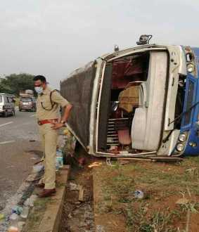 government bus accident at coimbatore selam high way