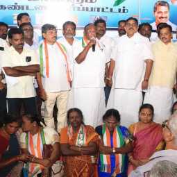 union bjp government did not implement the manifesto pondicherry cm narayansamy speech