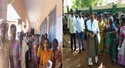 Re-polling with heavy police protection in Periyakulam Andipatti