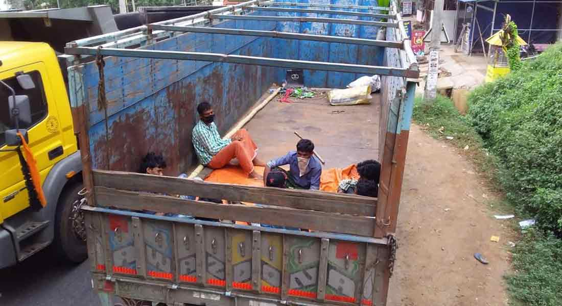 Seven people from Chhattisgarh travel in lorry with Kerala cows