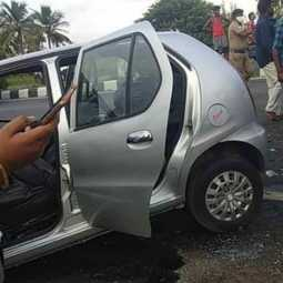 Car accident in chennai trichy highway 2 persons passes away