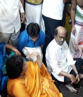 KANCHEEPURAM ATHI VARADAR DARSHAN ACTOR RAJINI KANTH TODAY EARLY MORNING
