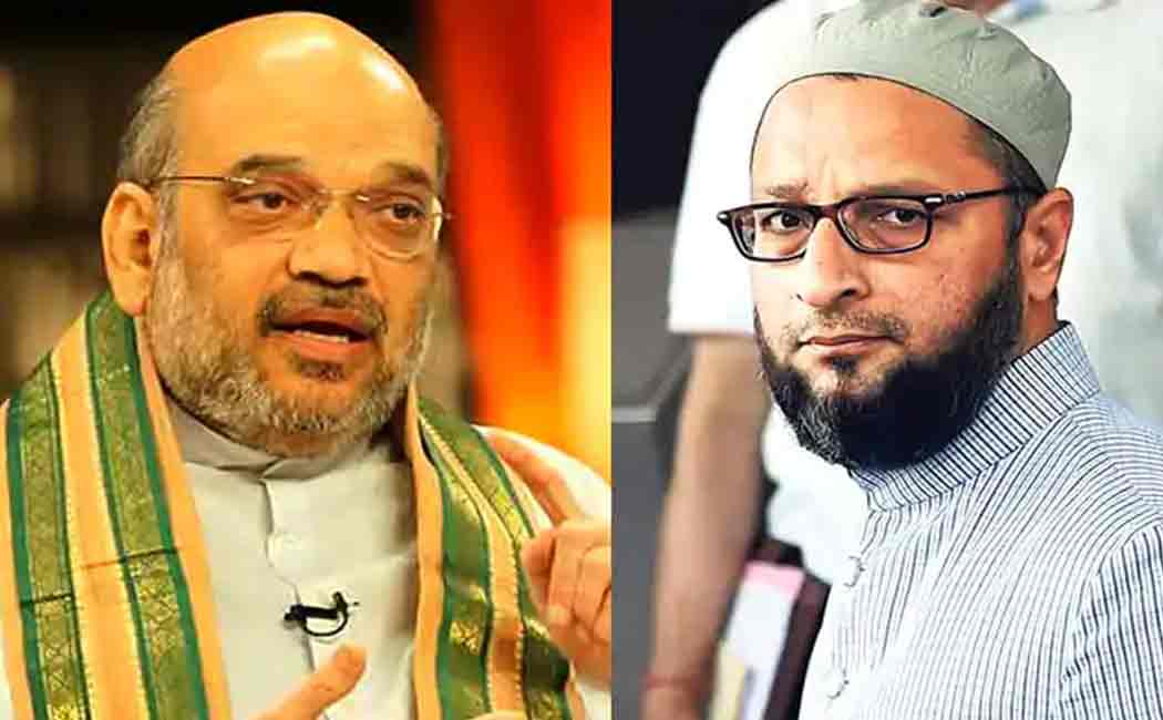 owaisi about amitshah tweet about hindi