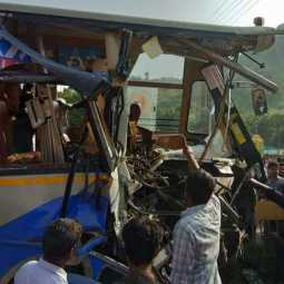 bus accident in vellore