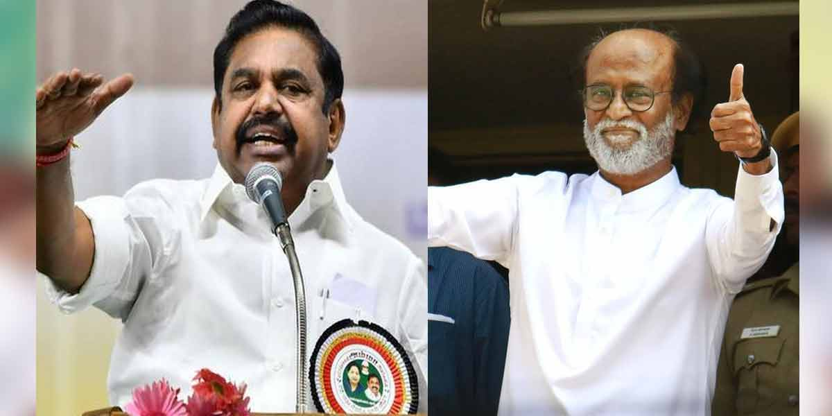 'Let him register the party first' - Chief Minister Edappadi's reply on Rajini's political visit!
