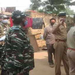 crpf provide security to hathras victim family