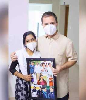 Rahul Gandhi fulfills the wish of an disabled student who has won the NEED exam!