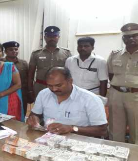 vellore lok sabha Elections Flying Force Officers seizure rs 10 lakhs
