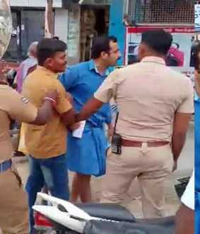 Beaten police; re-beaten public... incident in sathur