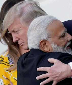 trump joins with modi in howdy modi