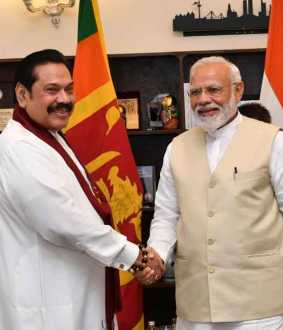 rajapakse with modi