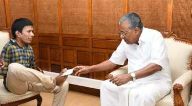 pinarayi vijayan meets differently abled