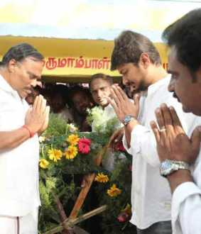 DMK commemoration to mozhipor thiyakikal