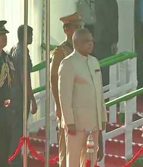 71th republic day india celebration Tamilnadu Governor Banwarilal Purohit at chennai