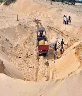 Prohibition of sand quarrying - The Collector is ordered to respond!