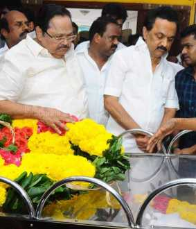 DMK leader Stalin  Pays tribute to MLA KPP Sami