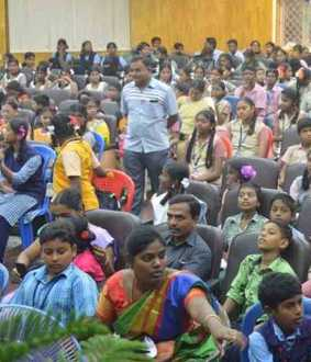 anna malai university national science day , schools students