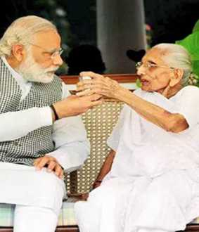 Modi mother Heeraben contribution towards corona containing actions