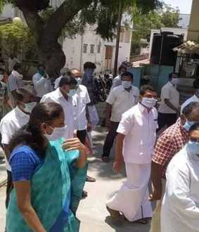 DMK MLA and Congress MP inspecting state hospital!