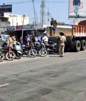 Crushing vehicle lights on curfew! - Police DGP Responsive order!