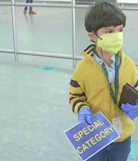 5 year old son Vihaan Sharma has travelled alone from Delhi to bengaluru