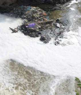 """Poisonous Waste"" Begins to Mix Back in Cauvery"