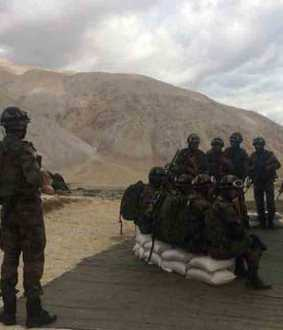 Chinese Army has moved back tents, vehicles by 2 km